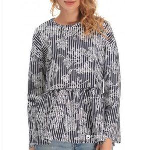 NWT Zara 💯% Cotton Printed Blouse Top Medium